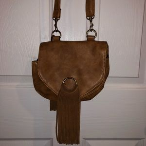 Steve Madden Crossbody Bag with fringe-  Tan